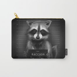 Raccoon Mugshot Carry-All Pouch