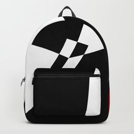 Black and white meets red version 32 Backpack