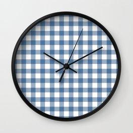 Gingham - Classic Blue Wall Clock