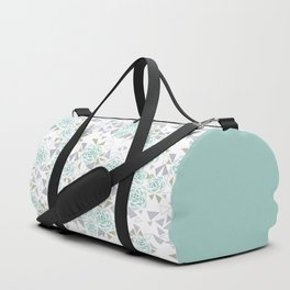 Modern . Geometric pattern . Rose .2 Duffle Bag