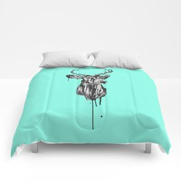 Deer Head III Comforters