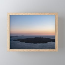 Santorini Volcano at Sunset Framed Mini Art Print