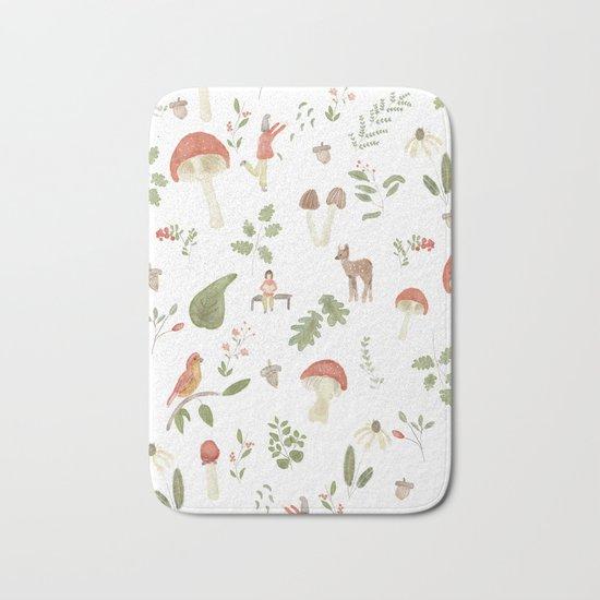 Forest Dream Pattern Bath Mat