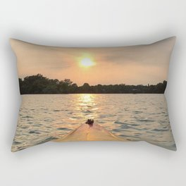 Paddle Into the Sunset Rectangular Pillow