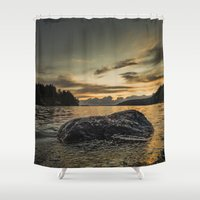 monsters Shower Curtains featuring Monsters by HappyMelvin