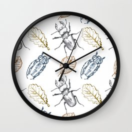 Bugs and leaves Wall Clock