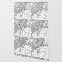 Vintage Map of Tampa Florida (1944) BW Wallpaper