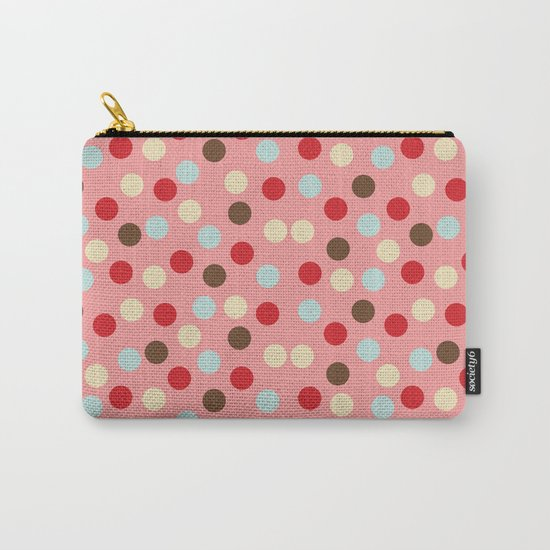 Christmas dots pink Carry-All Pouch