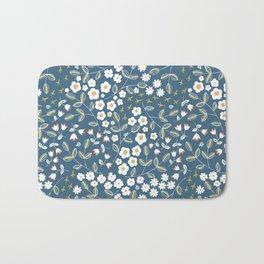 Ditsy Blue Bath Mat