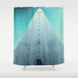 Hallgrimskirkja - Reykjavik, Iceland Shower Curtain