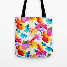 Dancing Floral Tote Bag