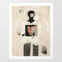 philosophy Art Prints featuring Philosophy of the heart by Keith Negley