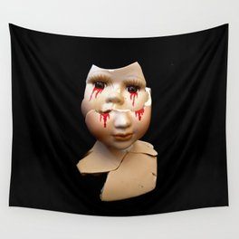 Blood Doll Face IV Wall Tapestry
