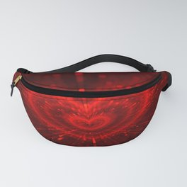 Cupid's Arrows | Valentines Day | Love Red Black Heart Texture Pattern Fanny Pack