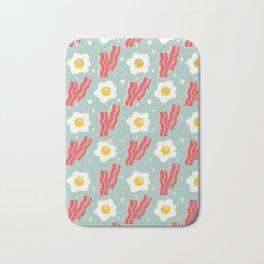 Egg and bacon Bath Mat