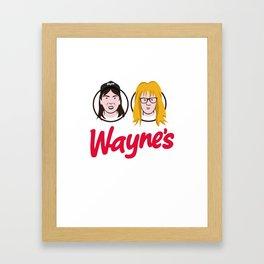 Wayne's Double Framed Art Print