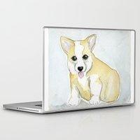 corgi Laptop & iPad Skins featuring corgi by Maddox Pratt