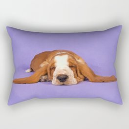 Basset Hound Puppy Rectangular Pillow