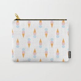 Ice Cream Cone Pink Pattern Carry-All Pouch