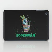 bookworm iPad Cases featuring Bookworm by TheVioletWall
