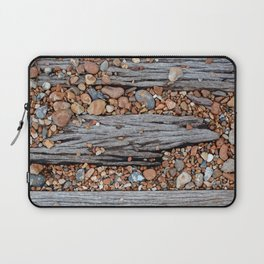 Wood And Pebbles Laptop Sleeve