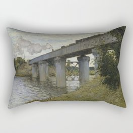The Railroad bridge in Argenteuil Rectangular Pillow