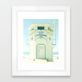 Laguna Lifeguard Framed Art Print