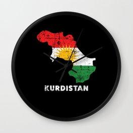 Kurdistan Flag Wall Clock