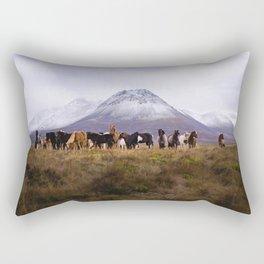 Majestic Horses Rectangular Pillow