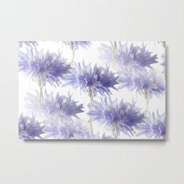 Pale Blue Cornflowers #decor #society6 Metal Print