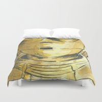 c3po Duvet Covers featuring C3PO by Johannes Vick