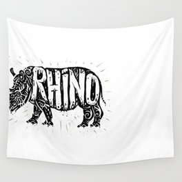 Rhino in tribal style Wall Tapestry