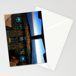 Airbus A320 Cockpit  Stationery Cards