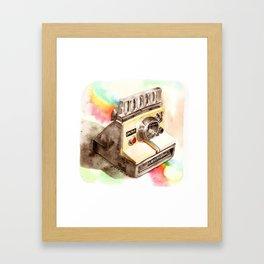 Vintage gadget series: Polaroid SX-70 OneStep camera Framed Art Print