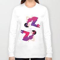 60s Long Sleeve T-shirts featuring 60s Zodiac Gals: Gemini by Skart87