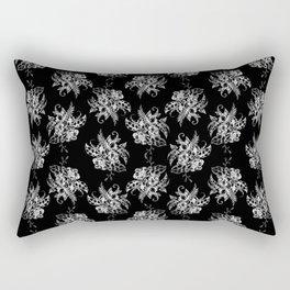 Dark Flowers Pattern Rectangular Pillow