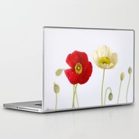 poppies Laptop & iPad Skins featuring poppies by Life Through the Lens