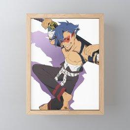 Kamina - Tengen Toppa Gurren Lagann Framed Mini Art Print