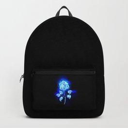 Burning Blue Rose Backpack