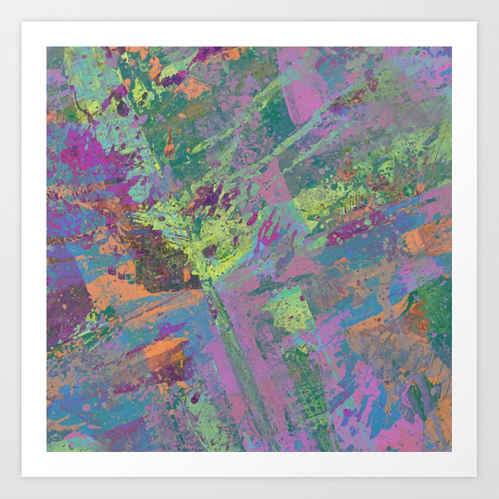 Abstract Thoughts 2 - Textured, painting Art Print