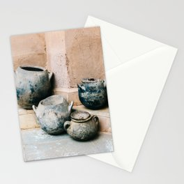 Pottery in earth tones | Ourika Marrakech Morocco | Still life photography Stationery Cards