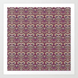 Curvas Colores Art Print