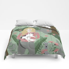 A Walk in the Park Comforters