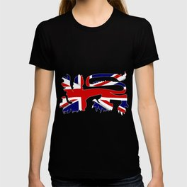 British Lion Silhouette On Union Jack Flag T-shirt