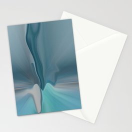 Melting Sea Glass Abstract Stationery Cards