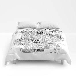Brooklyn Map Comforters