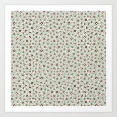 Summertime wallflowers pattern Art Print