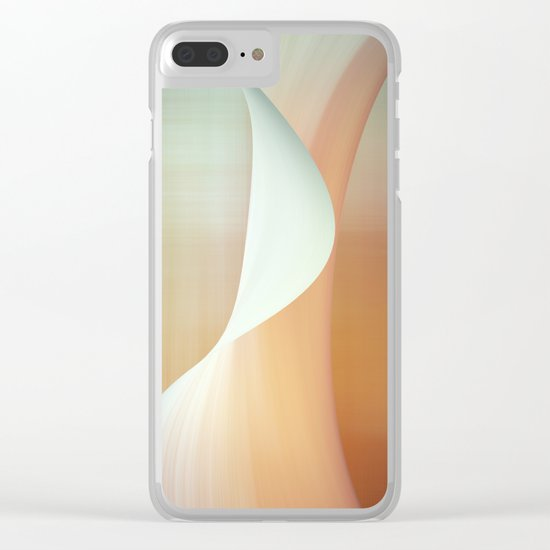 Wave n°5 Clear iPhone Case