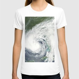 Tropical Storm Isaac moving northwest through the Gulf of Mexico with its eastern cloud covering ove T-shirt