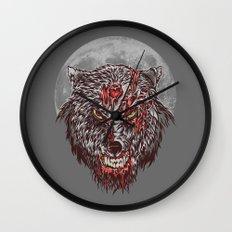 Zombie Wolf Wall Clock